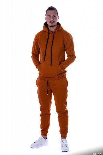 Tuta uomo, arancio - Felpa cappuccio