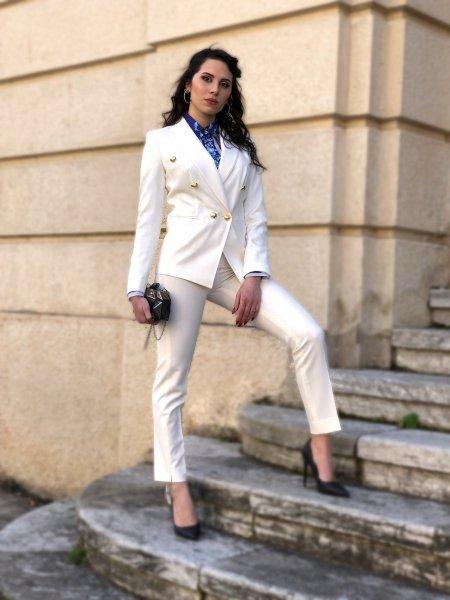 Tailleur bianco, giovanile - Con Pantaloni - Tailleur donna - Gogolfun.it