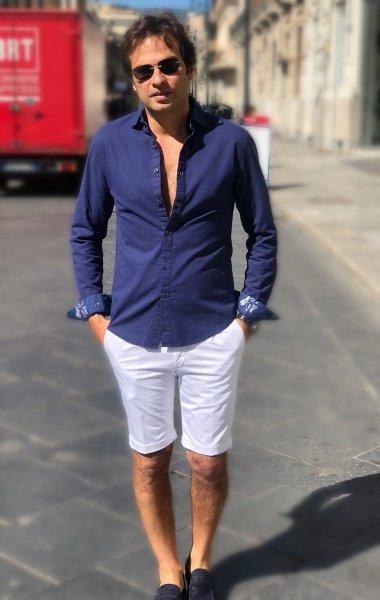 Camicia Lino, blu - Camicie estive Gogolfun.it