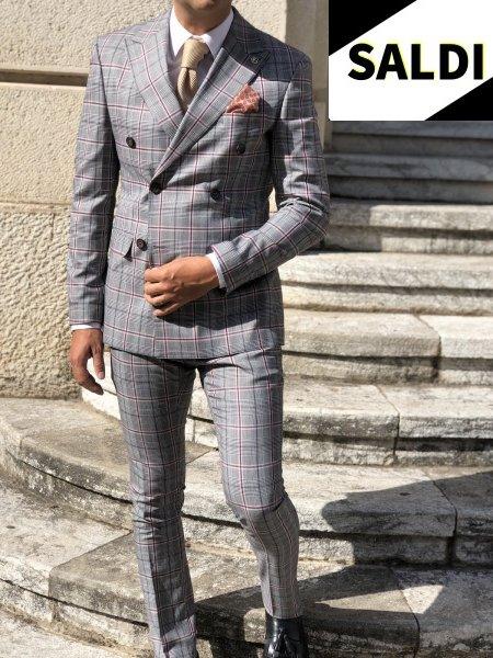 Abito uomo, Principe di Galles - Pantaloni slim - Gogolfun.it