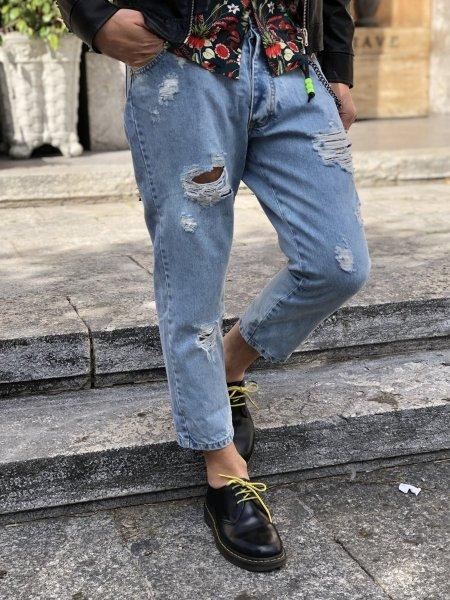 Jeans - Strappati - Corti - Chiari - Shop online - Reggio Calabria - Gogolfun.it
