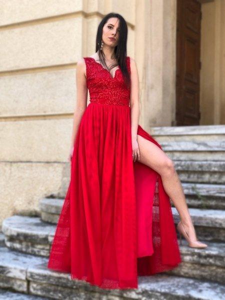 Abiti da cerimonia donna - Abiti eleganti - Rossi - gogolfun.it