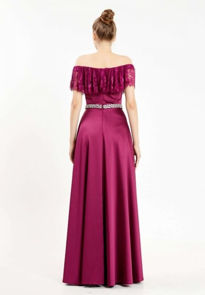 Vestito in raso - Elegante - Con spacco - Vestiti da cerimonia - Gogolfin.it