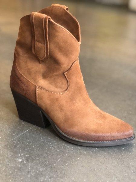 Texani corti - Marroni - Vera pelle - Made in Italy - Stivaletti - Gogolfun.it