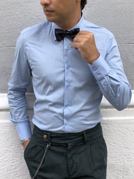 Camicia azzurra, classica - Gogolfun.it