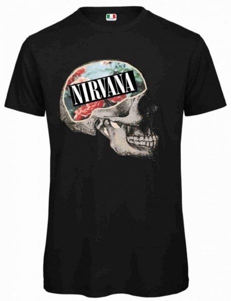 T shirt nera - Vintage - Stampa Nirvana -  Maglietta Gogolfun.it