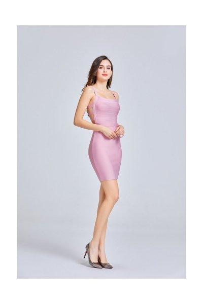 Vestito rosa boundage - Vestito rosa a tubino - Vestiti gogolfun.it
