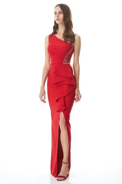 Vestito rosso lungo - A sirena - Giosi