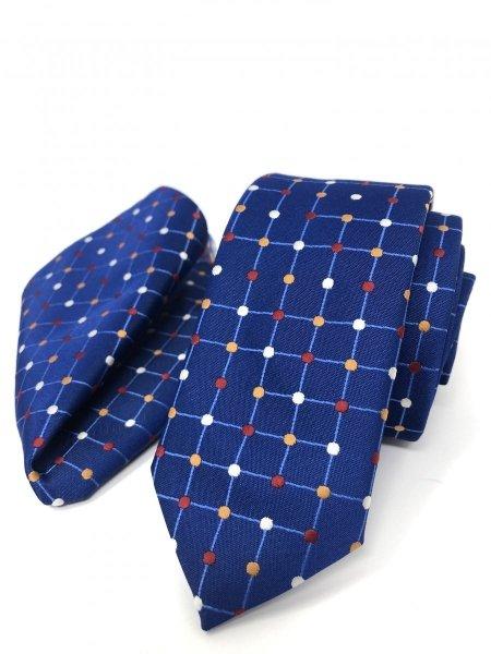 Cravatta con pochette abbinata - Pois - Gogolfun.it