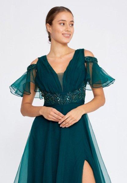 Vestito da cerimonia - Verde - In tulle - Vestiti eleganti - Vestiti verdi - Gogolfun.it