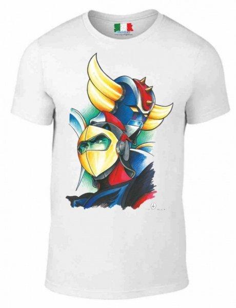 T shirt bianca - Goldrake - Maglietta Gogolfun.it