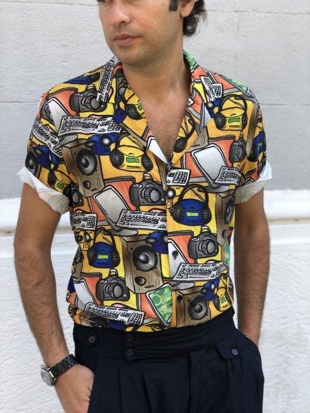 Camicia uomo particolare - Fantasia vintage