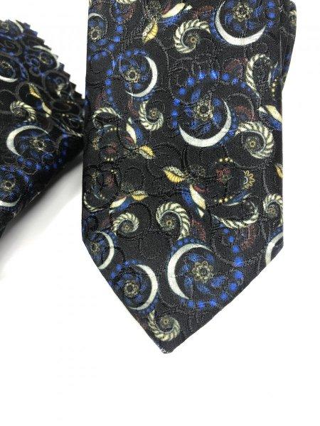 Cravatte uomo - Cravatta slim - Nera a fantasia - Goglfun.it