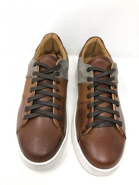 Sneakers marroni -  Vera pelle martellata