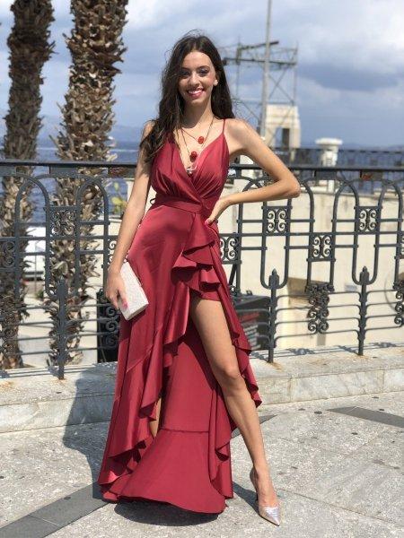 Vestito lungo elegante - Marylin - Giallo - Collezione abiti da sera