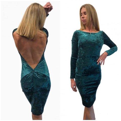 Vestito donna - Abito in velluto - Verde - Gogolfun.it
