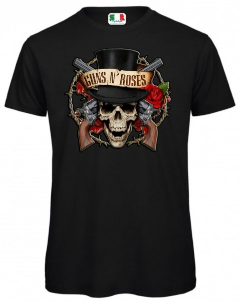 T shirt nere - Gun's and Roses - Uomo - Gogolfun.it