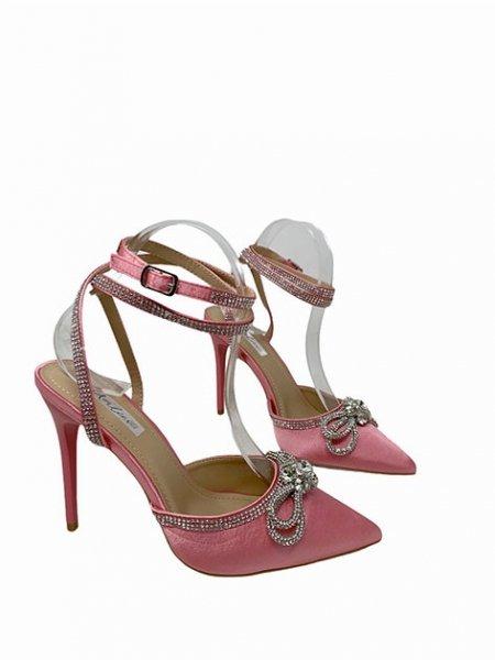 Sandali gioiello, rosa - Tacco alto - Scarpe donna - Gogolfun.it