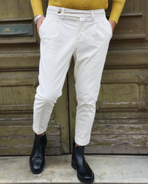 Pantaloni bianchi, chino - Paul Miranda