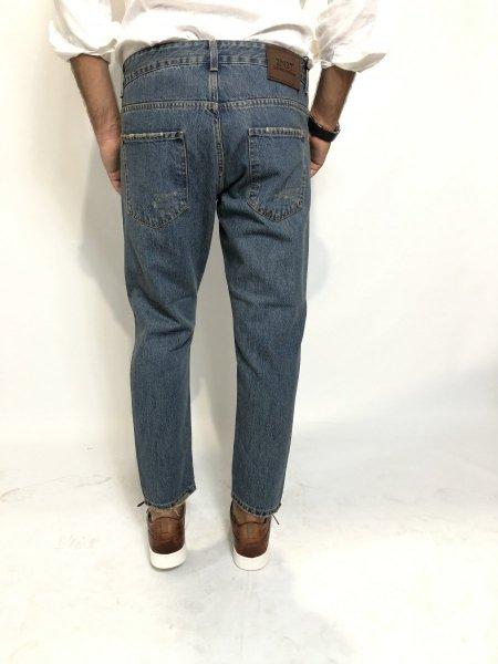 Jeans strappati uomo, chiari - Lavaggio sabbiato - Jeans uomo Gogolfun.it