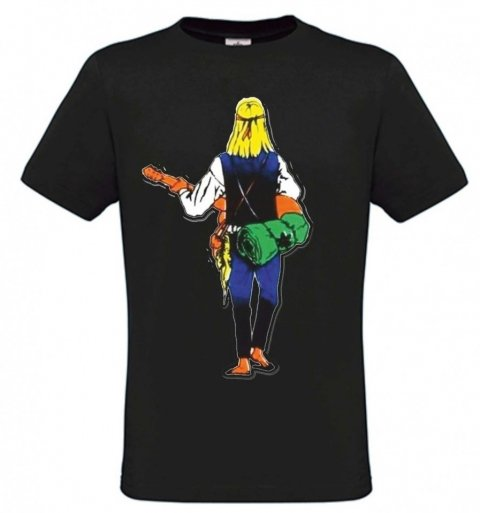 T shirt Hippie - Nera - Gogolfun.it