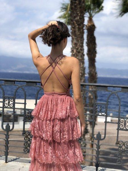 Sukienka damska dluga - Suknia elegancka - Gogolfun.it