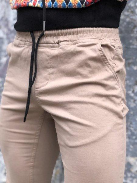 Pantaloni uomo beige, con coulisse - Gogolfun.it