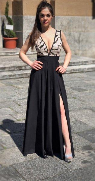 Abiti online eleganti - Cerimonia donna - Vestito elegante nero - Gogolfun.it