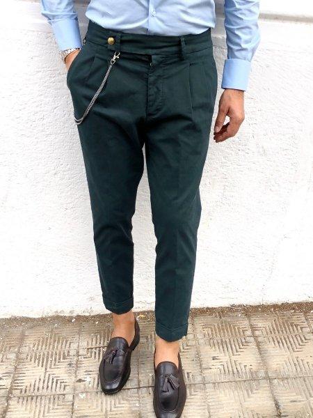 Pantaloni uomo, verdi - Paul Miranda -  Abbigliamento online Gogolfun.it