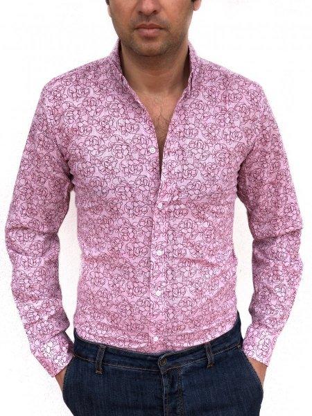 Camicia Uomo -  Camicia Rosa - Abbigliamento Gogolfun.it