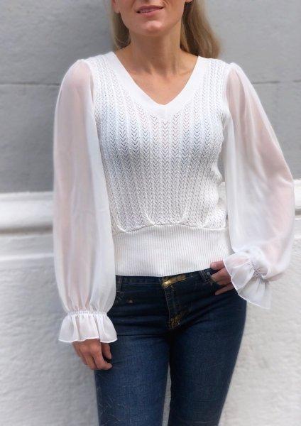 Maglioni donna, con maniche trasparenti - Pullover donna - Abbigliamento donna Gogolfun.it