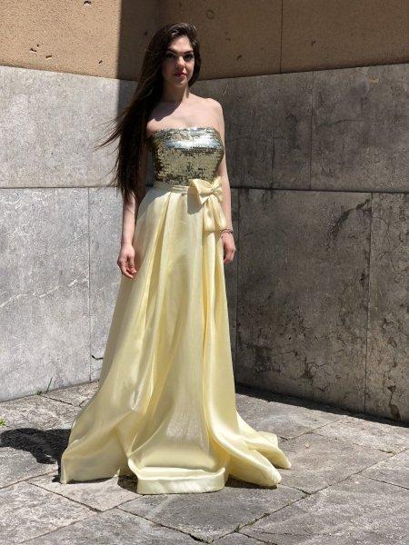 Vestiti online - Abiti online - Yellow dress - Gogolfun.it