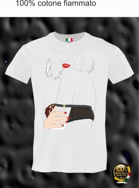 T shirt donna - Sexy posa - Bianca - Gogolfun.it
