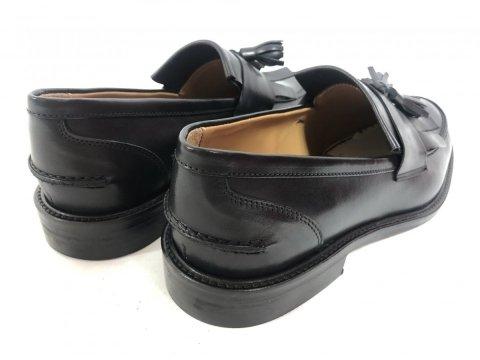 Mokasyny męskie, kolor czarny - Skórzane - Made in Italy - Obuwie męskie - Gogolfun.pl
