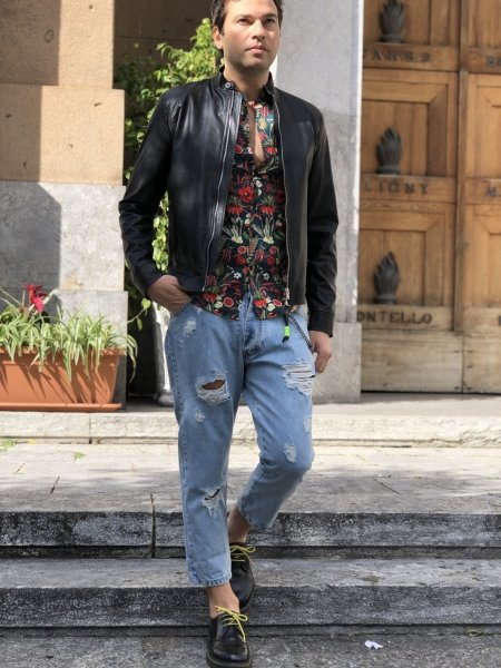 Jeans corti uomo - Strappati - Negozio abbigliamento uomo Reggio Calabria - Gogolfun.it
