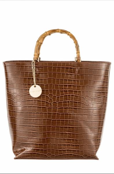 Borsa donna, ecopelle color cammello - Bags - Gogolfun.it
