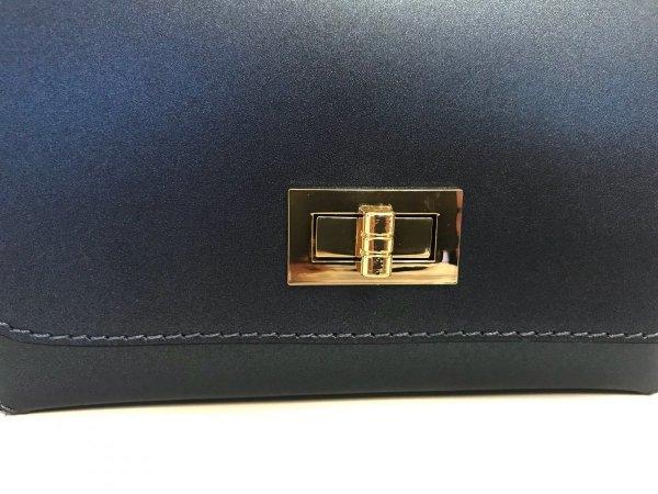 Borsa blu scuro - Ottanio - Accessori oro - Gogolfun.it