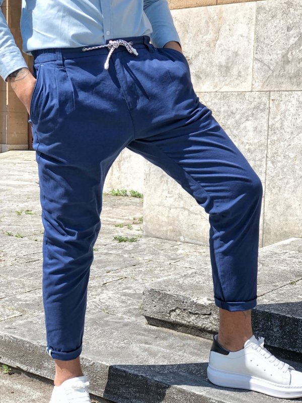 Pantaloni uomo blu - Pantalone - Abbigliamento uomo - Gogolfun.it