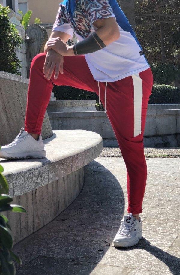 Pantatuta uomo colorati  - Pantaloni sportivi Rosso - Pantaloni NY
