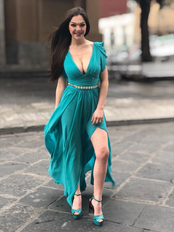 Abito - Donna - Colore Tiffany - Gogolfun.it