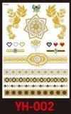 Tatuaże metalic złote srebrne FLASH TATTO YH-055