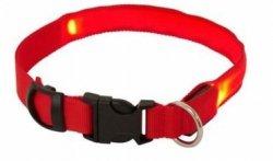 Obroża z diodami LED rozmiar XL max 68cm czerwona