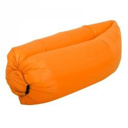 Lazy Bag SOFA materac LEŻAK na POWIETRZE pomarańcz