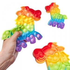 Zabawka sensoryczna Push Bubble Pop konik tęczowy