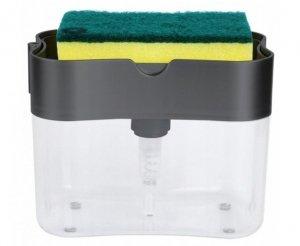 Dozownik płynu do naczyń mydła + gąbka