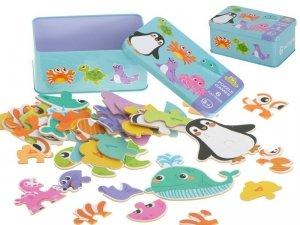 Puzzle w puszce zwierzątka morskie 25 puzzle