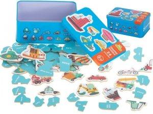 Puzzle w puszce pojazdy 24 puzzle