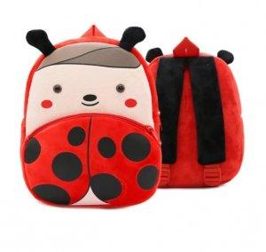 Plecak przedszkolaka pluszowy biedronka