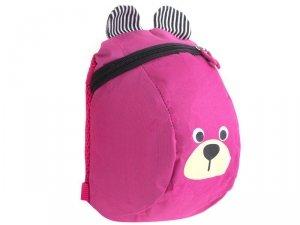 Plecak dziecięcy plecaczek przedszkolaka miś różow