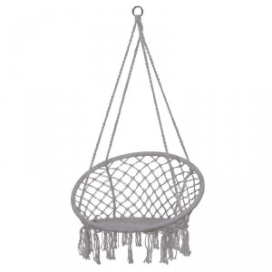 Huśtawka fotel bocianie gniazdo oparcie szara XL